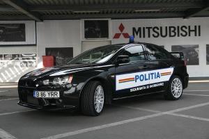 Mitshubishi Lancer Evo Police  Car Romania