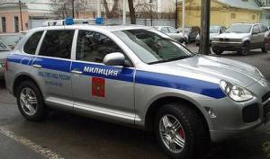 Porsche Cayenne Police Car