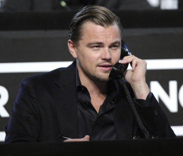 "Actor Leonardo DiCaprio takes part in the ""Hope for Haiti Now"" telethon in Los Angeles"