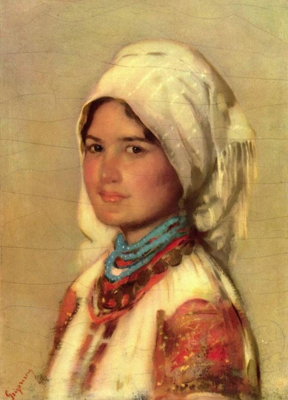"""""""Ţărancă din Muscel"""" (pictură de Nicolae Grigorescu)"""